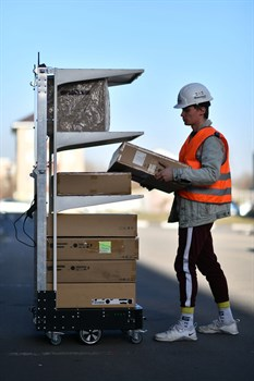 Marvelmind v100 Autonomous Delivery Robot. Автоматический робот доставщик - фото 7028